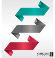 Abstract origami banner vector image vector image