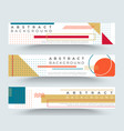 abstract retro horizontal banners with vector image