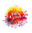 back to school sale splash with doodles vector image vector image