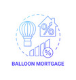 balloon payment mortgage concept icon vector image