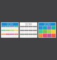 calendar 2019 year colorful set vector image vector image