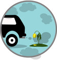 car exhaust co2 smoke icon vector image vector image