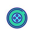 car wheel icon outline vector image vector image