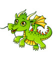 cartoon dragon isolated vector image vector image