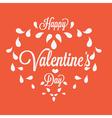 Celebration Happy Valentines Day in orange vector image vector image