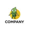 chameleon mascot logo vector image vector image