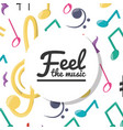 colorful musical notes concept music vector image vector image