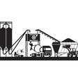 concrete batching plant vector image vector image