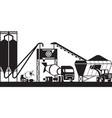 concrete batching plant vector image