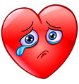 crying heart vector image vector image
