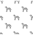 Dalmatian icon in black style for web vector image vector image