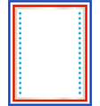 decorative american patriotic border vector image vector image