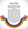 Design background with rainbow painted hands vector image vector image