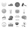 drink fan food and other web icon in monochrome vector image vector image