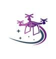 drone speed camera logo vector image vector image