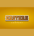 eastern western style word text logo design icon vector image
