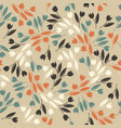endless pattern with decorative tulips vector image