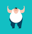 fat confused emotions stout guy is perplexed big vector image vector image