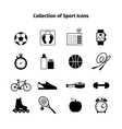 Fitness black icons vector image vector image