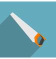 flat handsaw vector image