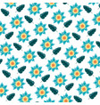 flowers leaves foliage decoration background vector image vector image