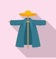garden scarecrow icon flat style vector image vector image