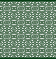 green celtic pattern vector image vector image