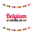 greeting card for belguim national day vector image vector image