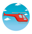 helicopter flying transport icon vector image vector image