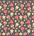 ice cream elements seamless pattern background vector image