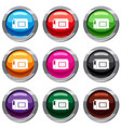 inkjet printer cartridge set 9 collection vector image vector image