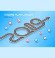 isometric navigation map infographic timeline vector image vector image