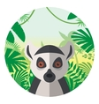 Lemur on the Jungle Background vector image vector image
