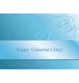 light blue card with rose vector image vector image