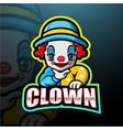 little clown boy esport logo design