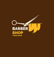 logo and emblem for the barber shop elements to vector image