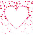 love shape heart decoration passion seamless vector image vector image