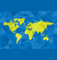 low poly map of world polygonal design in vector image vector image
