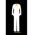 mans suit for your design vector image