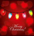 merry christmas greeting invitation card garland vector image