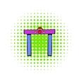 Metal detector icon comics style vector image vector image