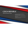 modern background with czech colors and grey free vector image vector image