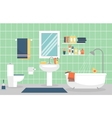 Modern bathroom interior with furniture in flat vector image vector image