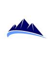 mountain logo icon vector image vector image