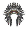 native american indian war bonnet vector image vector image