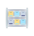 office shelf with documents line ison vector image vector image