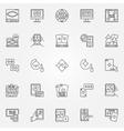 Online casino icon vector image