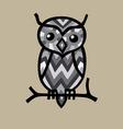Owl bird cartoon vector image vector image