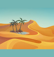 panorama or landscape of desert with oasis vector image vector image
