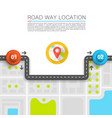 paved path on the road vector image vector image
